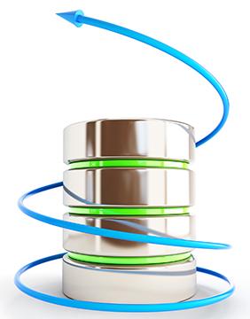 set of databases on a white background 3D illustration