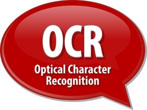 OCR acronym definition speech bubble illustration